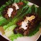Curry Lentil & Eggplant Lettuce Tacos