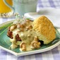 Biscuits with Chanterelle Mushroom Gravy and Chorizo Sausage