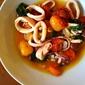 08.07.13: dinner (squid with burst tomatoes, via Tom Colicchio.)