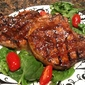 Spice Rubbed Pork Chops with Horseradish Maple Glaze