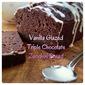 Vanilla Glazed Triple Chocolate Zucchini Bread