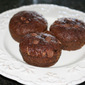 Chocolate Pudding Zucchini Muffins