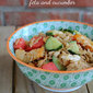 Orzo Salad with Chicken, Watermelon and Feta