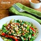 Recipe for Julienned Zucchini Vegan Bowl with Peanut-Sriracha Sauce