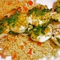 Grilled Shrimp Skewers with Pesto and Garlicky Couscous