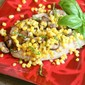Fish with corn and mushrooms en papillote (how to bake fish in parchment packets)