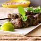Murg hariyali kebab / Minty green chicken skewers