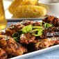 Sticky Boneless Chicken Wings with an Asian-Style Barbecue Sauce