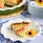 Healthy Potato-Crusted Vegetarian Quiche Recipe with Zucchini, Tomatoes & Feta