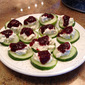 Cucumber Goat Cheese Bites