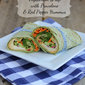 Vegetarian Wrap with Provolone and Roasted Red Pepper Hummus