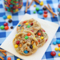 Salted Peanut Butter Pretzel M&M Cookies