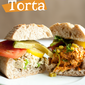 Two Way Torta: Half Smoky & Half Spicy Shredded Chicken Salad with Jalapeno, Tomato & Avocado