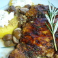 Balsamic Glazed Chicken with Mushrooms, Polenta, and Goat Cheese