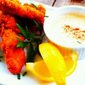 Striped Bass Tenders w/ Lemony Sriracha Tartar Sauce