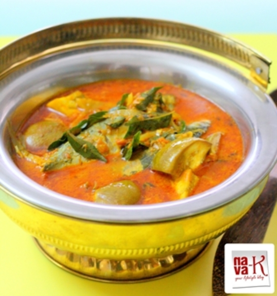 Indian Fish Curry With Brinjals