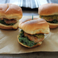 Turkey Sliders with Kale and Roasted Broccoli Spread
