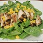 Chicken and Corn Spinach Salad
