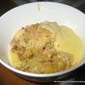 Simple And Easy Apple Crumble With Custard Sauce