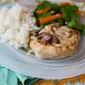 Creamy Brie & Mushroom Pork Chops