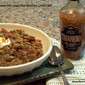 Mexican Lentil and Beef Chili with Tabanero Hot Sauce