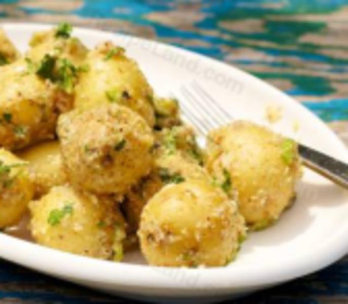 Almond-Coated Potatoes