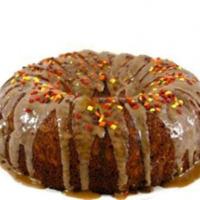 Skinny Fall Apple Cake With Caramel Glaze