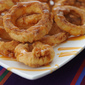 Apple Rings with Cinnamon Cream Dipping Sauce