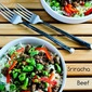 Recipe for Sriracha Beef Cabbage Bowl