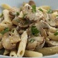 Penne with Mushrooms in White Sauce