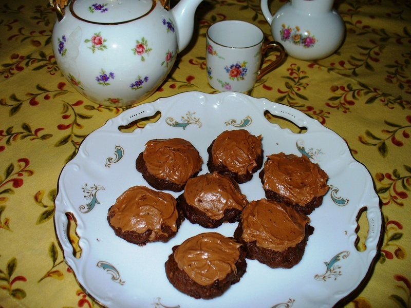 Triple-Play Chocolate Drop Cookies with Mocha Frosting
