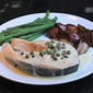 Steamed Salmon Steak With Caper Butter Sauce