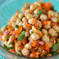 Quick Weeknight Dinners: Warm Chickpea Salad with Shallots & Red Wine Vinaigrette