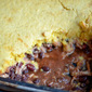 Barbecue Chicken and Cornbread Pie