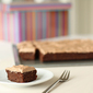 Oatmeal brownies with chocolate ermine frosting