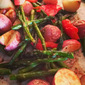 Roasted Potatoes, Asparagus & Red Peppers