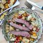 Panzanella Salad with Grilled Bison Flank Steak