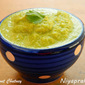 Coconut Chutney (with coriander leaves, garlic, pottu kadalai, lemon juice ..)