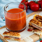 Pizza Grilled Cheese Sandwich Dippers with Pizza Tomato Soup