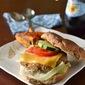 Adzuki Beans & Brown Rice Burger with Sweet Potato Fries