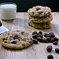 Chocolate Covered Raisin Oatmeal Cookies