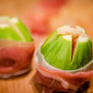 Baked Figs Wrapped in Prosciutto, Stuffed with Aged Sheep's Milk Cheese