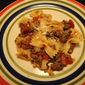 Bowtie Pasta with Tomatoes and Ground Beef