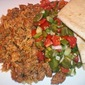 Chorizo and Rice with Nopalitos Salad