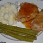 Pork Chops with Apple Cider Garlic Reduction