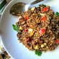 Quinoa w/ Roasted Eggplants & Apples: WHAT?
