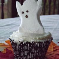Chocolate Halloween Peep Cupcakes