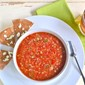 Clean Eating Gazpacho With Warm Flatbread