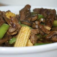 Beef with Young Corn and Kangkong