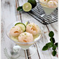 Lime Coconut Jelly with Lychees